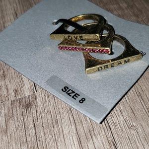 Ring set 3 pieces